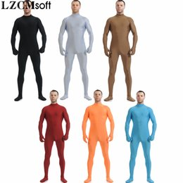 China LZCMsoft 22 Colors Unisex Lycra Spandex Zentai Headless Skin Tights Catsuits For Mens Full Body Halloween Party Zentai Costumes supplier mens lycra tights suppliers