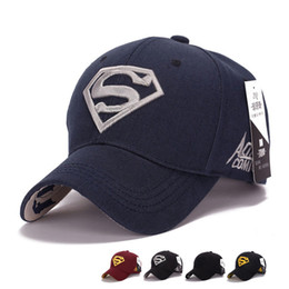 bone balls 2019 - Superman Cap Letter Casquette Superman Baseball Cap Men Brand Women Bone Diamond Snapback For Adult Trucker Hat Free Shi