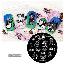Cartoon Stamping Australia - 1pcs Nail Art Stamping Plates Set Cartoon Girl Design Polish Stamp New Arrival Templates Manicure Tools