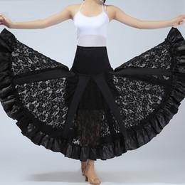 1988f2d74a43 Flamenco Costumes Australia - Free Shipping Ladies Ballroom Dance Costume  Long Skirt Performance Flamenco Dresses Large