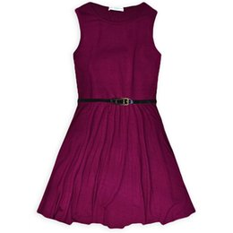 $enCountryForm.capitalKeyWord UK - Hot Girl Dress 2016 New Arrival Summer Cotton Casual Beach Sundress With Belt Infantil Baby Children Clothes Princess Vestido