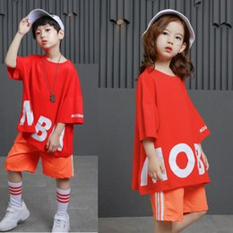 31373b5855de kid Hip Hop Clothing Casual T Shirt Tops Performance Pants Girls Boys Jazz Dance  wear Costumes Ballroom Dancing Clothing Suits