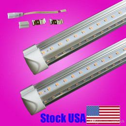 Chinese  Hot selling (25PACK) v shaped lighting SMD2835 T8 4ft 5ft 6ft 8ft Led Lights Integrated V-shaped LED T8 Tube light lamp manufacturers