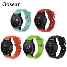 $enCountryForm.capitalKeyWord Canada - Gosear 20mm Replacement Silicone Quickfit Wristband Wrist Band Watch Strap Bracelet for Garmin Fenix 5S 5 S Fenix5S Accessories