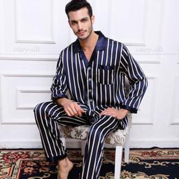 a3eb34cae4 Mens Silk Satin Pajamas Set Pajama Pyjamas PJS Set Sleepwear Set Nightwear  Loungewear S
