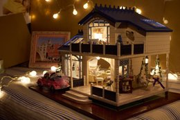 $enCountryForm.capitalKeyWord Australia - Cute Room 2017 New DIY Wooden Doll House Unisex Kids Toy Furniture Miniature Kit Crafts Gifts For Kids' present Provence A032