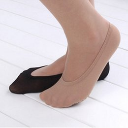 Discount flat pumps for women - Dropshipping 1 Pair Women's Short Socks Summer Anti slip Invisible Liner Socks for pumps flats Shoes Traces of Wome