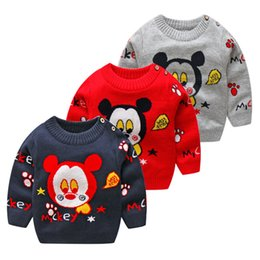 girls sportswear UK - Baby Boys Spring Autumn Sweater New Children Kids Long Sleeve Cotton Pullover Girls Baby Cartoon Sportswear Clothing