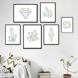 MiniMalist paintings online shopping - Large Art Print Poster Wall Picture Canvas Painting Home Decor Minimalist Black White Geometric Shape Frameless Paintings Hanging aq4 jj