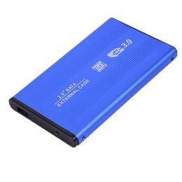 $enCountryForm.capitalKeyWord Australia - Newest SATA3.0 to USB 3.0 Enclosure Aluminum Alloy Case Sata Notebook External Cover 2.5 inch HDD Hard Drive Cartridge Blue