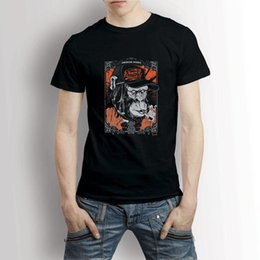 Red Monkey T Shirts Australia - Drum Monkey Music Class Vintage Retro Men's T-Shirt Tee Mens 2018 fashion Brand T Shirt O-Neck 100%cotton T-Shirt Tops Tee custom