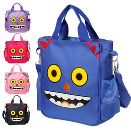 kid backpacks pink purple Canada - New Super Cute Kawaii Character Unisex Red Black Blue Light Pink Purple Robot Bag Backpack For Kids Children 6-12 Years Old