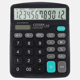 Multi-função Solar calculadora de energia dupla M28 calculadora solar 12-bit logotipo do presente personalização Geral Finalidade Calculadora Frete grátis venda por atacado