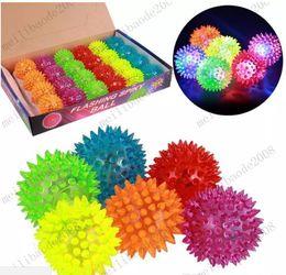 $enCountryForm.capitalKeyWord NZ - Soft Rubber Flash Balls LED Toys Hedgehog Ball Bouncing Ball Flash Barbed Ball Led Flash Pet Toys Christmas Birthday Festival Gift