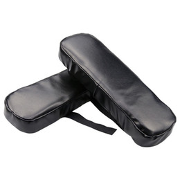 Wholesale Chair Armrest Cover High Elastic Force PU Leather Comfort Decompression Black Armrest Pad For Office Leisure Chairs Eco Friendly xm ff