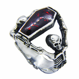 eye skull shopimay size evil big rings yellow vintage antique male titanium stone products steel with ring red