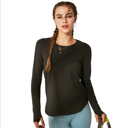 202c90474 UA ROCHA Outono Roupas de Fitness de manga Longa Sportswear Respirável  Mulheres Camiseta Top Yoga Quick-Seco Correndo Camisa Ginásio Esporte