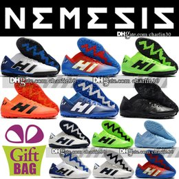 indoor soccer shoes for turf 2019 - 2018 Cheap Low Ankle Nemeziz Messi Tango 18.3 TF IC Soccer Shoes Football Boots Shoes Messi 18.3 Turf Cleats Indoor Socc