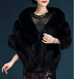$enCountryForm.capitalKeyWord Canada - Women autumn winter Fashion noble luxury faux fur shawl Top quality fox fur vest bride wedding dress evening cloak coat female