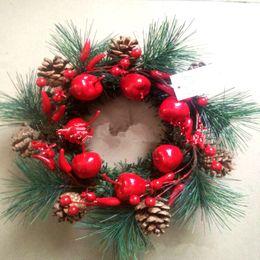 christmas ornament wreath 2019 - 2018 Christmas Wreath Wood Christmas Decor For Home Santa Snowman Grand Tree Christmas Gift Xmas Ornament Pendant Navida