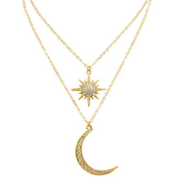 верхняя одежда оптовых-top Hip hop jewelry stars moon pendant muillayer for women choker pendant necklace hot fashion free of shipping