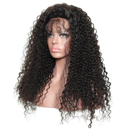 Kinky Curly Human Hair Afro Wigs Australia - afro curly human hair wig for black women kinky curly glueless full lace wig lace front wigs pre pluck hair line