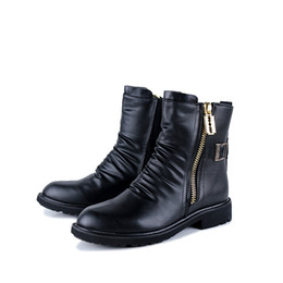 a7acaf4717c 2018 New Fashion Men High Quality PU Leather Half Boots Comfortable Black  Men ZIP Motorcycle Booties Luxury Design Men Soft Half Boots Size