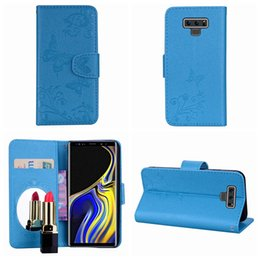 $enCountryForm.capitalKeyWord NZ - For Galaxy Note 9 8 S9 Plus S8 (J3 J5 J7)2017 EU A5 A7 2018 Bling Mirror Leather Wallet Cases Butterfly Flower Flip Cover ID Card Slot Strap