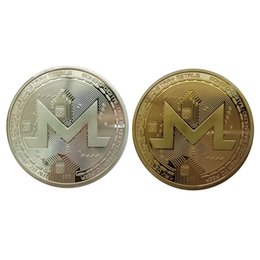 currency coins UK - Non-currency Coins Monero Coin Commemorative Coin Art Collection Gift Physical Metal Antique Imitation Home Party Decoration