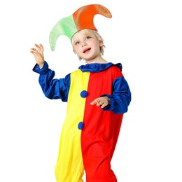 Wholesale hot boy cosplay for sale – halloween Kids Clothing Baby Clothes Baby Boy Clothes Boys Clothes New Harlequin Costume Kids Clown Halloween Fancy Dresses Cosplay Hot Fashion Set