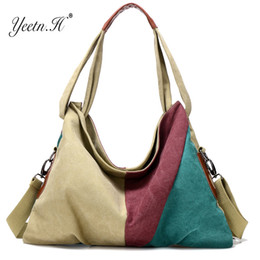 Discount hobo bags sale - Yeetn.H New Vintage Patchwork Women Handbag Hot  Sale Canvas d0e5e6de94d29