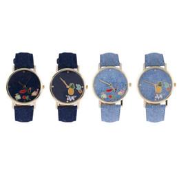 Chinese  2018 Fashion Casual Women Wrist Watches Couple Watch Denim Belt Mens Watch bayan kol saati horloges mannen manufacturers