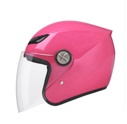 Discount open face half helmets - Pink motorcycle helmet 788 model open face helmet DOT approved half Retro moto casco capacete motociclistas capacete