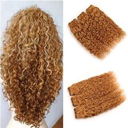 $enCountryForm.capitalKeyWord NZ - #27 Honey Blonde Brazilian Wate Wave Virgin Hair Extensions 3Pcs Lot Strawberry Blonde Wet and Wavy Human Hair Weave Weft 3 Bundle Deals