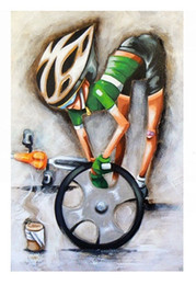 Oil Painting Hd Art Prints Canvas NZ - Tour de france pro cycling bike art,High Quality Handpainted &HD Print Modern Abstract Pop Art Oil Painting On Canvas Multi sizes Ab280