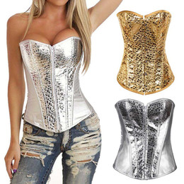Barato Venda De Vestidos-Hot Sale Women Corset Vestido de noiva Corset Body Shaper Waistcoat Shapewear Nightclub DS Stage Costume Court Style + T-back FS99