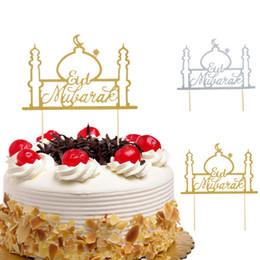 $enCountryForm.capitalKeyWord Australia - Cake Toppers Eid Mubarak Wedding Baby Shower Birthday Party Ramadan Decor Gold Black 8 Style Cupcake Topper Muslim Eid Baking