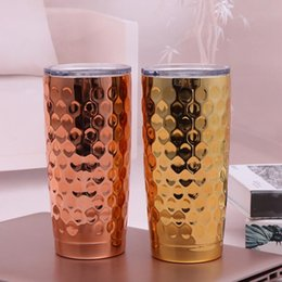 Double Walled Insulated Tumblers NZ - Fish Scales Stainless Steel Cup 20 oz Tumbler Plating Insulated Double Wall Vacuum Insulated Mugs Travel Beer Mugs Kids Cups OOA5665