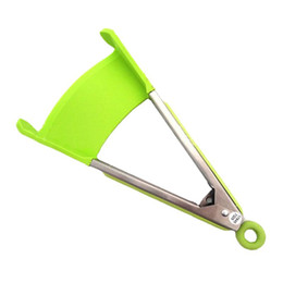 Grip clips online shopping - NEW in Clever Spatula Tong Kitchen Spatula Tongs Non stick Heat Resistant Food Clip Grip Stainless Steel Accessories