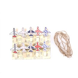 $enCountryForm.capitalKeyWord UK - 10 pcs pack cute cartoon plane Photo Paper Craft DIY Clips Clothespin wooden clip Craft Clips Party Decoration