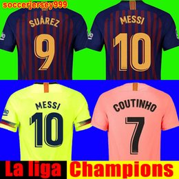 90e3d1ebb6 2018 2019 FC barcelona soccer jersey football shirt chandal Jersey de  fútbol Messi COUTINHO hombres Adulto INIESTA O.DEMBELE 18 19 Camiseta de  fútbol ...