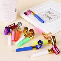 $enCountryForm.capitalKeyWord NZ - Funny Colorful Whistles Kids Childrens Birthday Party Blowing Dragon Blowout Baby Birthday Supplies Toys gifts 100pcs lot
