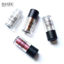 loose shimmer eyeshadow 2021 - 2018 IMAGIC Pro Glitter Eyeshadow Loose Powder Shimmer Eye Shadow Nude Pigments Metallic Sparkling Makeup Beauty Cosmetics 9 Colors