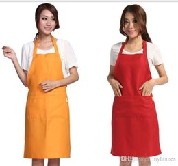 $enCountryForm.capitalKeyWord Australia - Multi Color Fashion Apron Solid Color Big Pocket Family Cook Cooking Home Baking Cleaning Tools Bib Baking Art Apron have stock