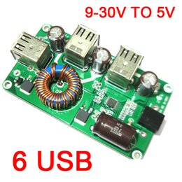 $enCountryForm.capitalKeyWord NZ - Freeshipping DC-DC Buck Converter 12V 24V to 5V 12A 6 USB Voltage Step Down Mobile Phone Charger POWER