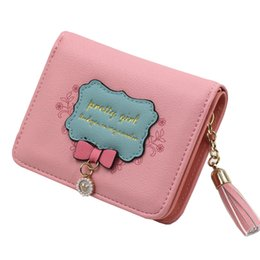 cb29a6b49b9 Women Tassel Pendant Zipper Cute Purse Multi - Functional Pretty Girls  Cartoon Wallet Female Card Holder Children Coin Purse QL