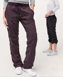 Wholesale lining pants for sale – designer 10pcs free Dhl new Studio Pant no line Women s Sports Tights Gym sweatpants Pantalon Femme yoga outdoor Studio Pant Jogging yoga Pants