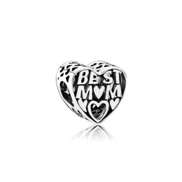 wholesale mum charms UK - For The Best Mum Alloy Charm Bead Best Friend Fashion Women Jewelry Stunning Design European Style For DIY Bracelet Necklace