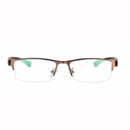 7b18932ab8d Half-Rim Photochromic Reading Glasses Progressive Eyeglasses Color Change  Lens Eyewear Brown Metal Frame Men Eye Reader +1.0~+3.0 Strength