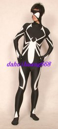 Xl Full Body Suits Australia - Fantasy Full Spider Body Suit Costumes New Black White Lycra Spandex Spiderman Suit Catsuit Costumes Unisex Cosplay Spiderman Costumes DH282